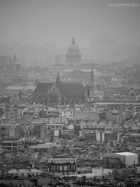 A view from Montmartre hill