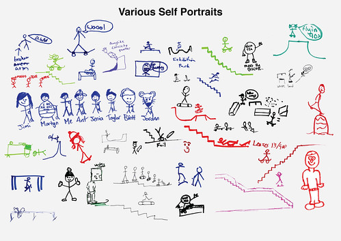 Various Skaters' Self Portraits
