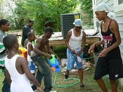 Hunter Street Water Fight - Filling Up