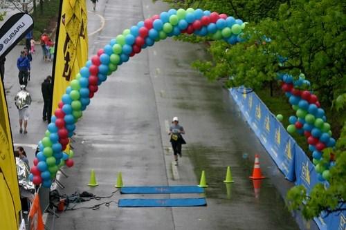 Fake finish line