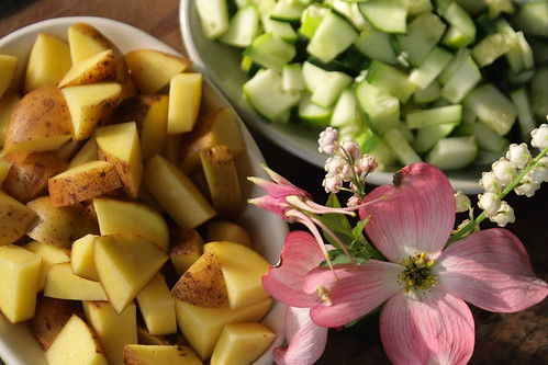 Potatoes and cucumbers