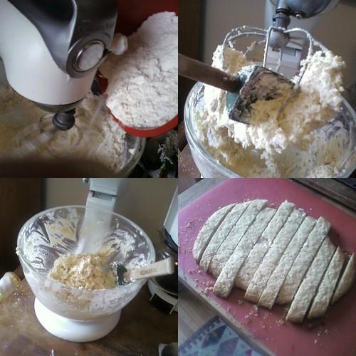 coconut dough collage