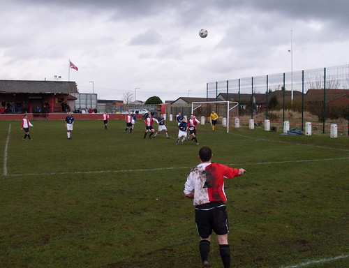 Larkhall take a throw-in