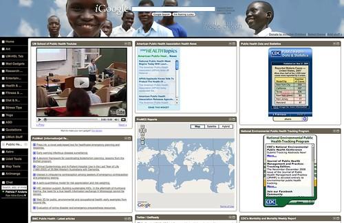 iGoogle Tab: Public Health