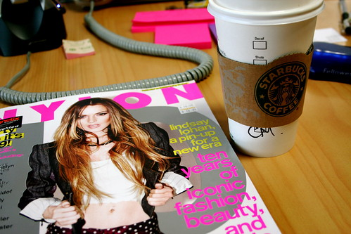 Tuesday: Nylon & Starbucks. Consumerism ahoy!