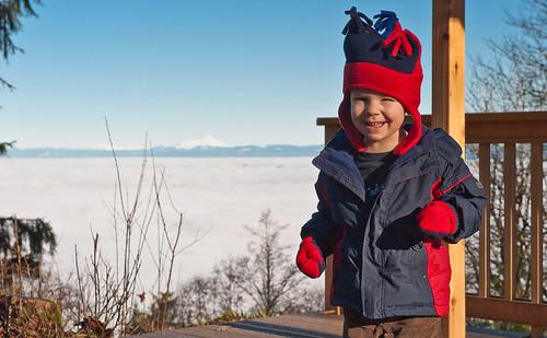 Alex above the clouds
