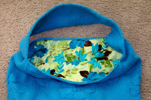 Blue Petunia Bag with lining