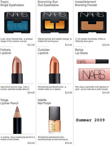 NARS Cosmetics Summer 2009