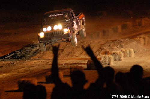 Team Hazard Rally jump at STPR 2009