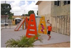 Mini-área de Lazer em Jardim Brasil. Foto: Passarinho/Pref.Olinda