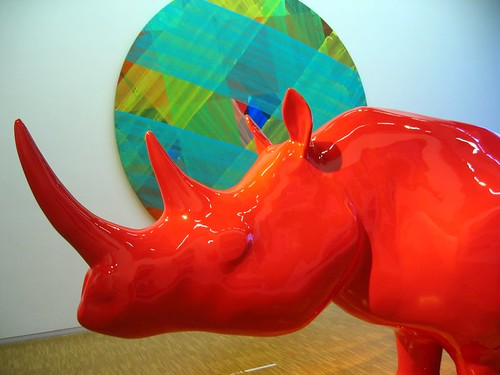 Red Rhinoceros at the Pompidou.