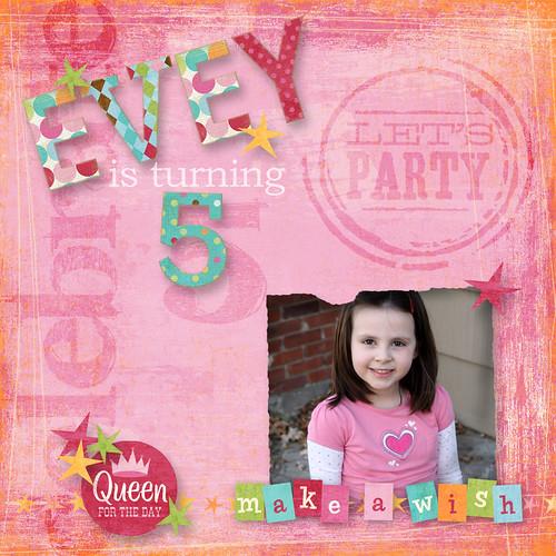 Evey's turning 5