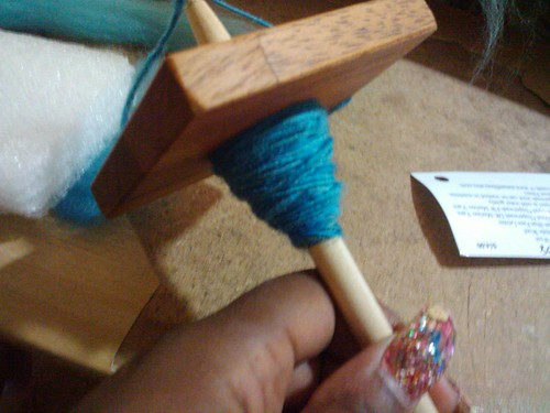 Spinning on my new Spindle! <3