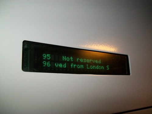 Electronic reservation on East Midlands Trains