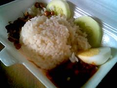 Delta homecooked nasi lemak