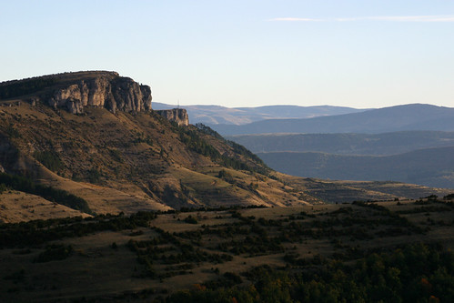 Sur la route de Meyrueis en Lozère (Cévennes) par Modestine l'ânesse des Cévennes