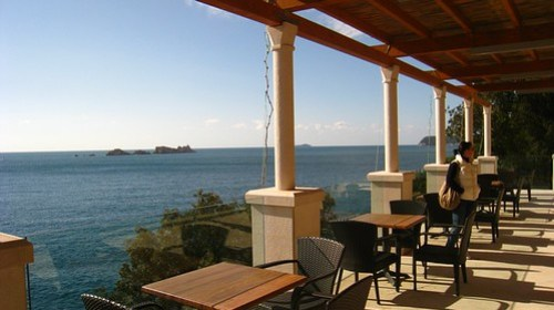The terrace of More Hotel on the sunny February day!