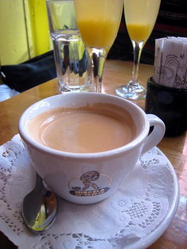 Café au lait at Café Henri