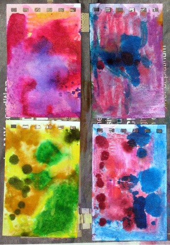 Bright Watercolour Wash Backgrounds