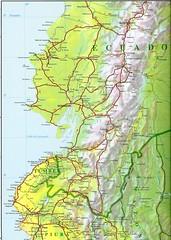 Mapa vial del Ecuador