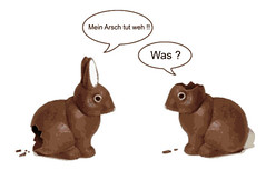 """Easter Bunny 1 """"My arse hurts""""... Easter Bunny 2 """"What?"""""""