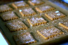 graham crackers, ready to bake