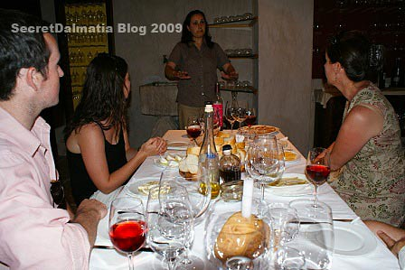 Marina telling the story of Tomic wines