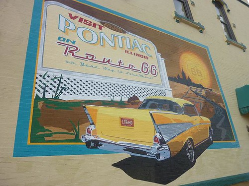 IL, Pontiac 34 - Pontiac mural