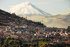 Cotopaxi from a hotel window, Quito, Ecuador