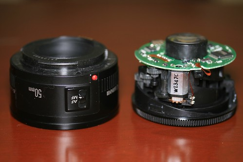 Borked 50mm Lens - Cover and Innards