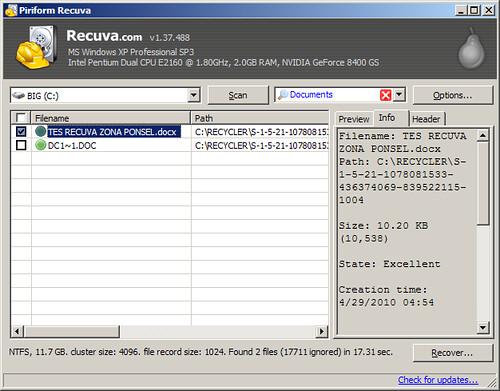 tips mengembalikan file yang terhapus