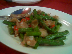 Long beans with pork belly