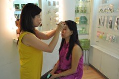 during make-over at Elianto