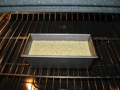 Batter in loaf pan