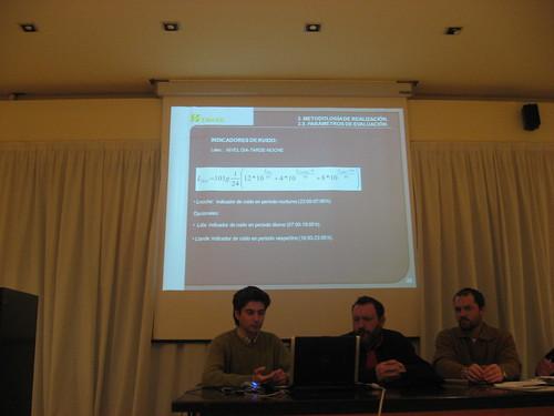 Indicadores Presentacion Mapa de Ruido en el Consejo Municipal de Medioambiente en Cordoba Asignacion Areas Acusticas.
