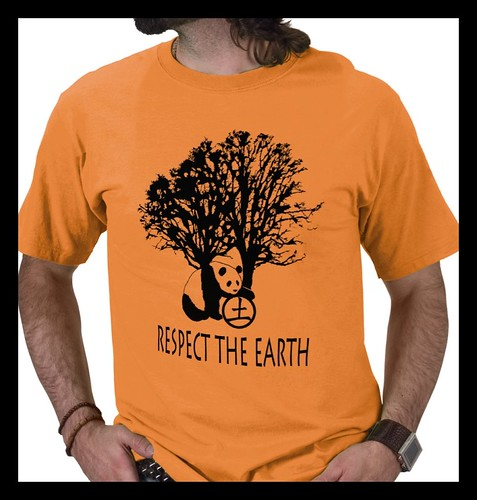 Respect the Earth ©Sandra Miller 2009 , MensTshirt front
