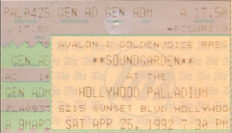 Soundgarden, Palladium