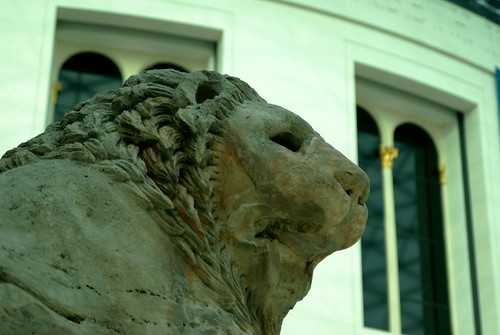 The lion from the main entrance of The British Musem