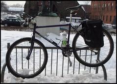 Improvised bike parking
