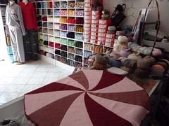Short Rows Round Pinwheel Baby Blanket