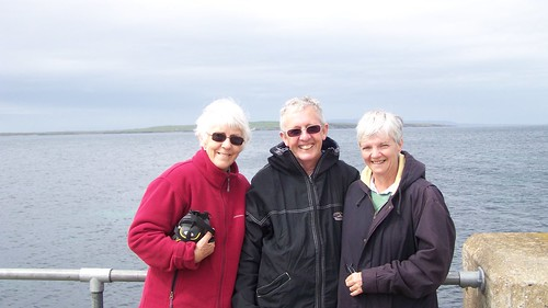 Janet with the Hiles at John O Groats