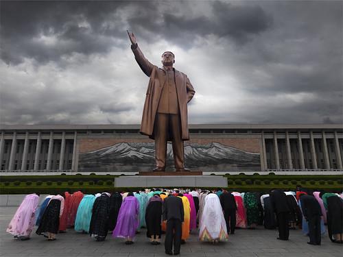 Kim Il Sung statue - North Korea