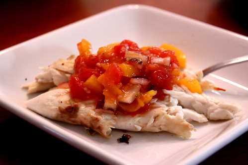 grilled halibut and mango salsa (by Leaca's Philosophy)