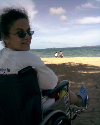 With Mom, my sister and nephews at the beach in Luquillo