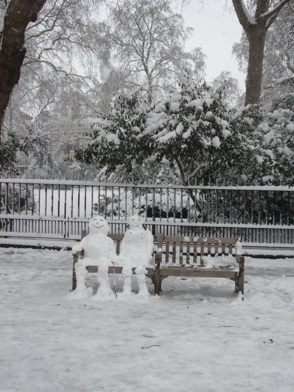 Snow people became more sophisticated.  Snovolution?