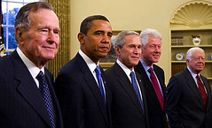 2009 Five Presidents George W. Bush, President...