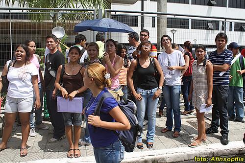 Estudantes na CMM 03 por você.