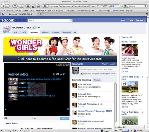 Wonder Girls Facebook