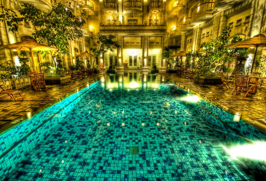 The pool that taunted me in Jogjakarta (by Stuck in Customs)