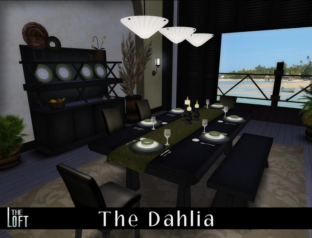 The Dahlia Dining Room in Ebony